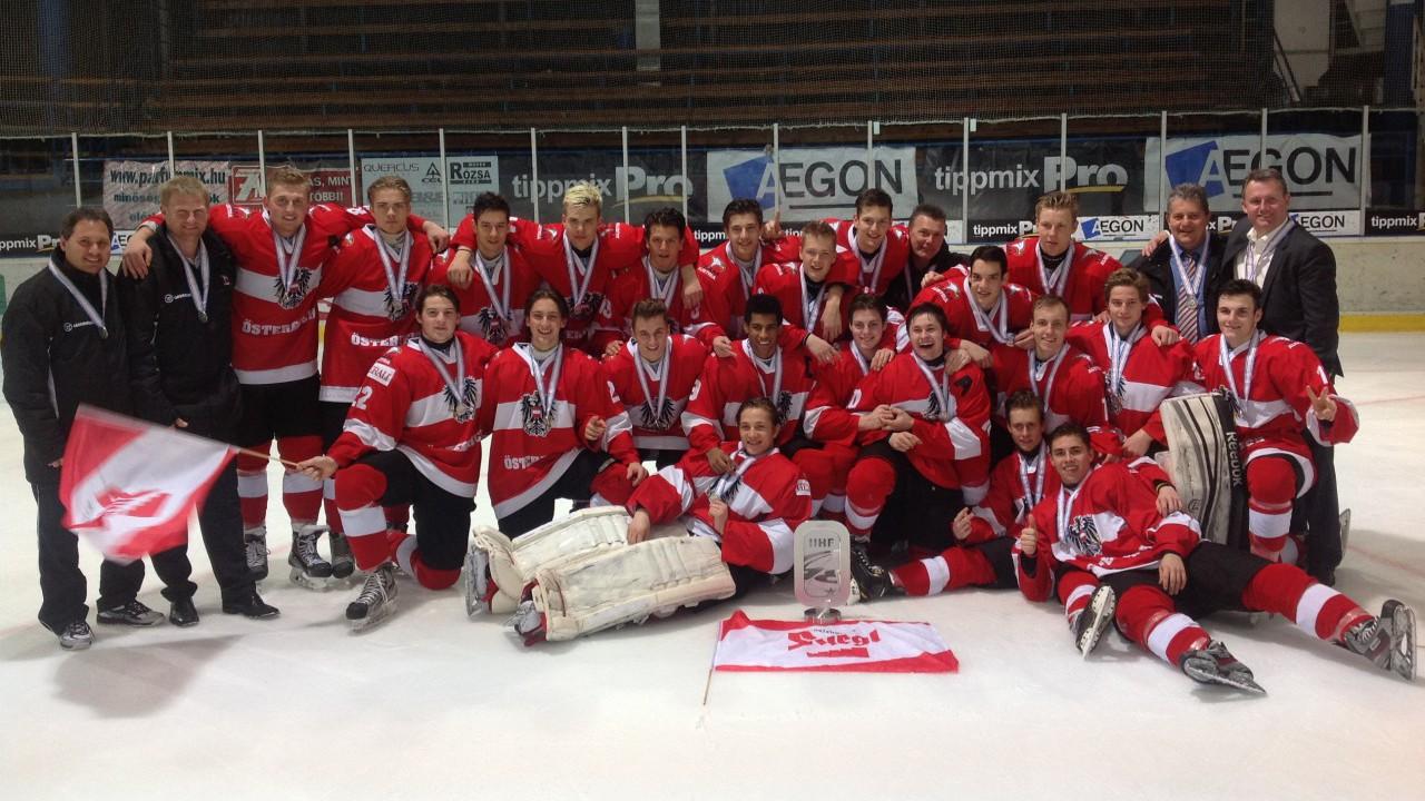 Silber bei der U18 Eishockey WM Div.I Gr. B in Székesfehérvár.